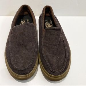 Vans men's brown loafer sneakers